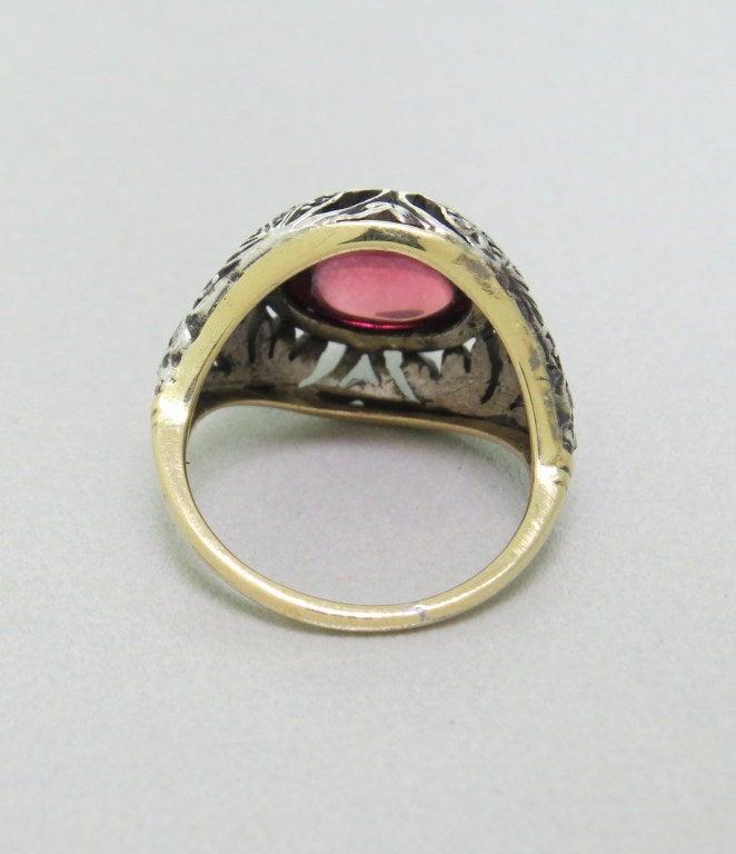 antique garnet cut gold ring at 1stdibs
