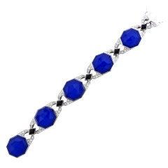 STEPHEN WEBSTER Lapis Crystal Onyx Gold Diamond Bracelet