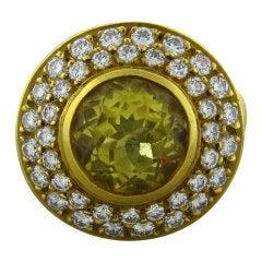 KIESELSTEIN-CORD Yellow Beryl Diamond Gold Ring