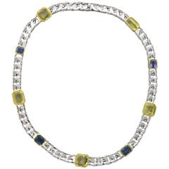 1980s Classic Bulgari Multicolor Sapphire Necklace