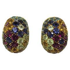 Pasquale Bruni Gold Multi Gemstone Earrings