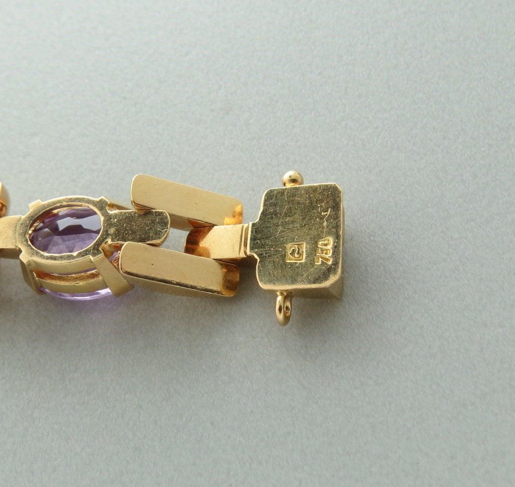 H Stern Amethyst Gold Bracelet 1960s At 1stdibs