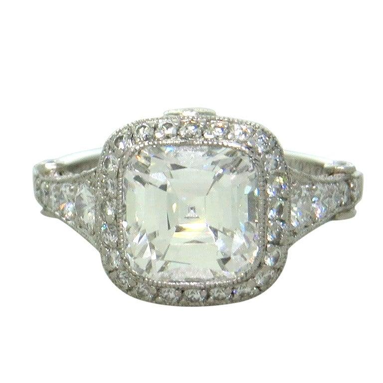 Tiffany and Co Legacy 3 07 Carat Diamond Platinum Engagement Ring at 1stdibs