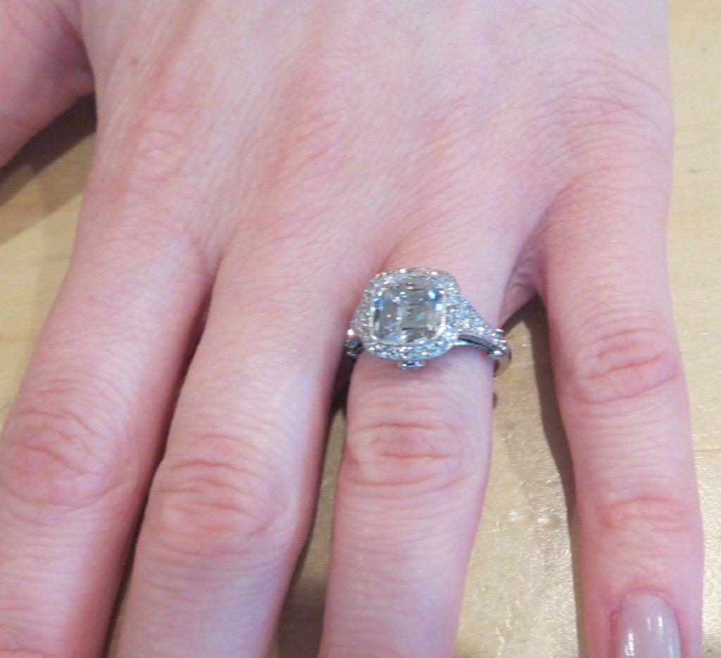 Tiffany and Co. Legacy 3.07 Carat Diamond Platinum Engagement Ring ...