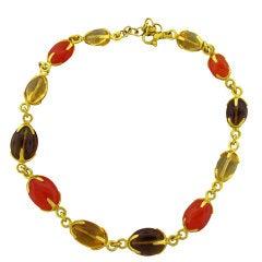 GURHAN Multi Gemstone Gold Necklace