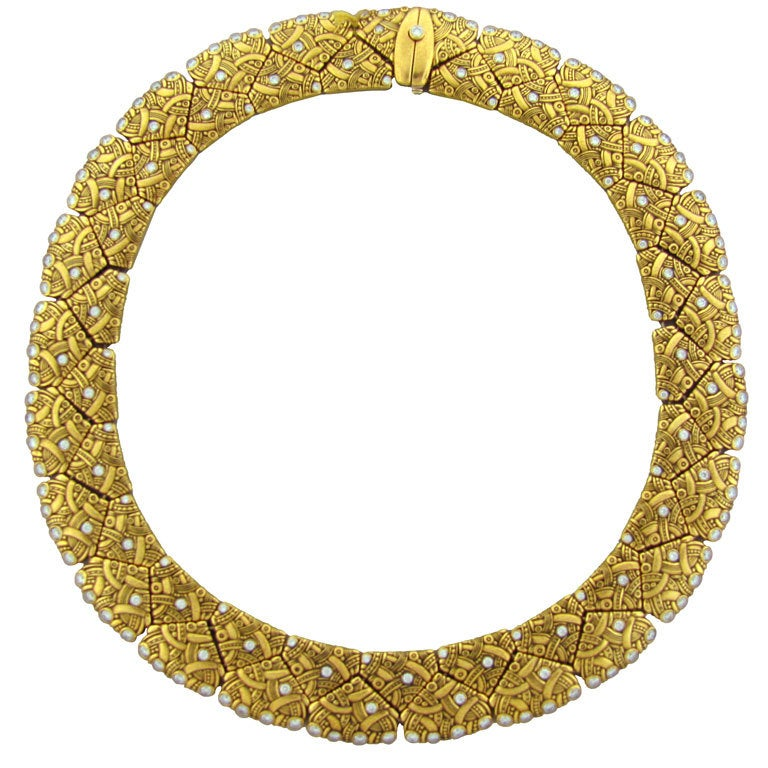 ALEX SEPKUS Arc Diamond Gold Necklace