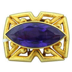 DAVID WEBB Gold Gemstone Brooch Pin