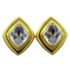 David Webb Crystal Gold Earrings