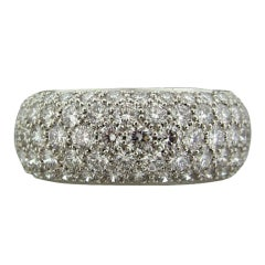 TIFFANY & CO ETOILE Five Row Platinum 3.40CTW Diamond Band Ring