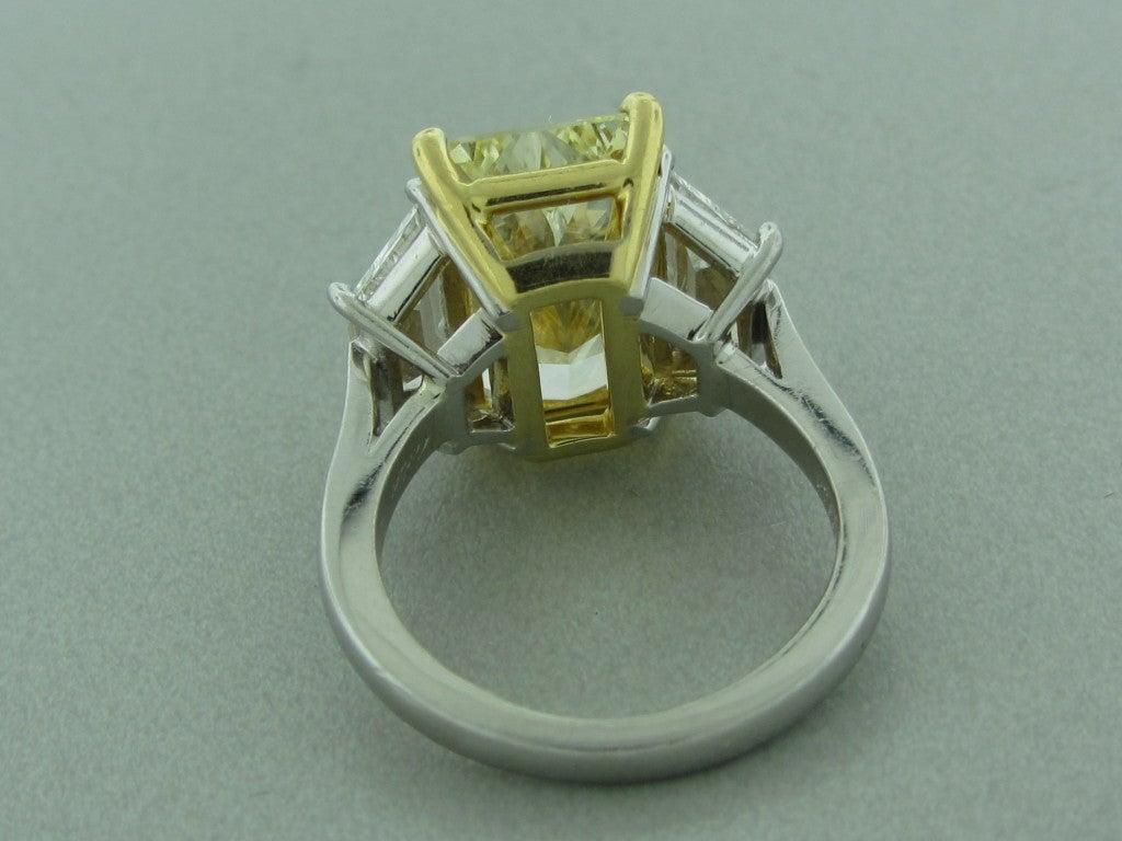 Cartier Yellow Diamond Engagement Ring