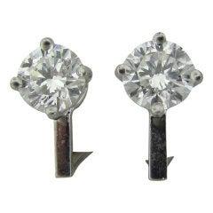 TIFFANY & CO  2.44ctw F VVS2 Diamond Stud Earrings