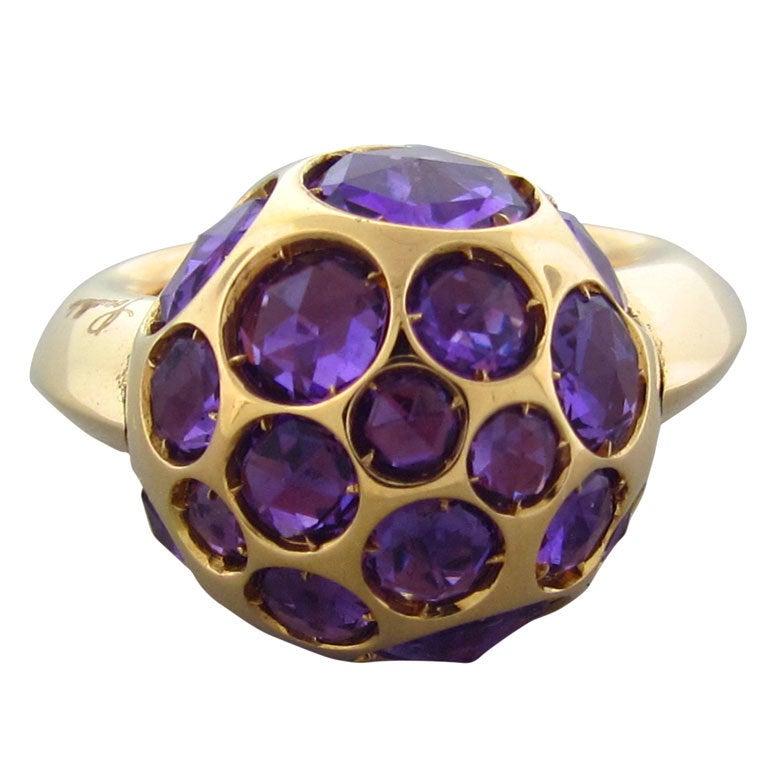 POMELLATO Harem Gold Amethyst Ring