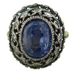 Buccellati Sapphire Diamond Gold Ring