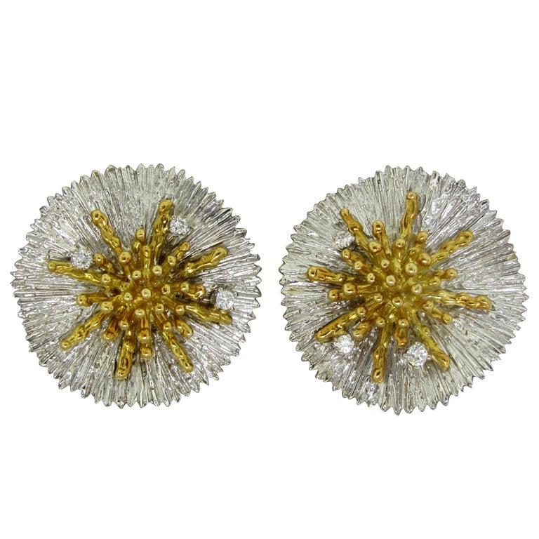 ASPREY Gold Diamond Earrings