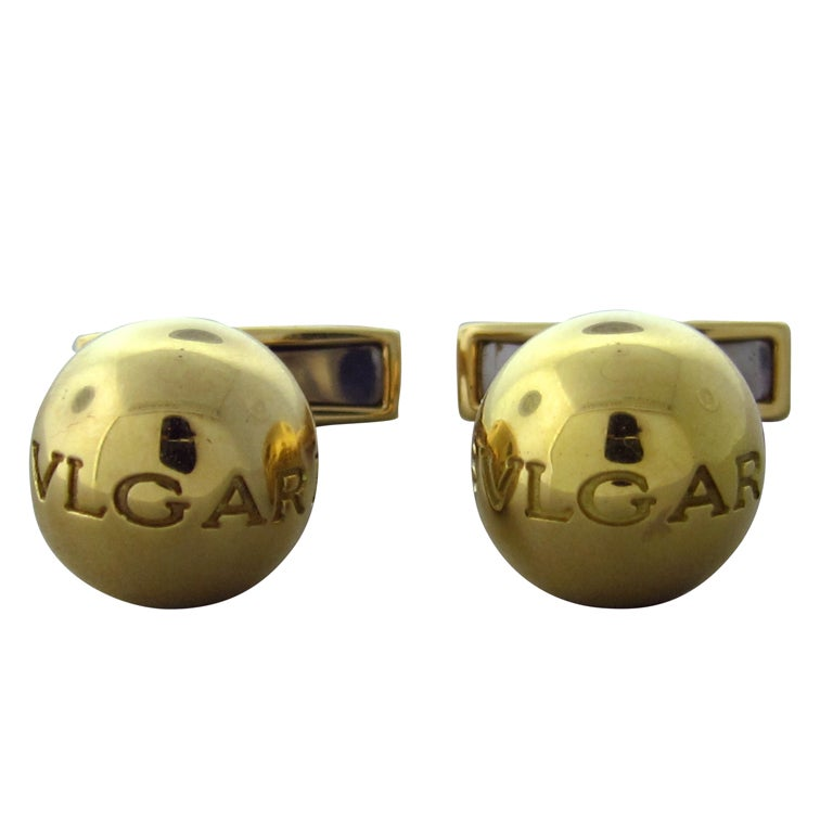 BULGARI Gold Cufflinks