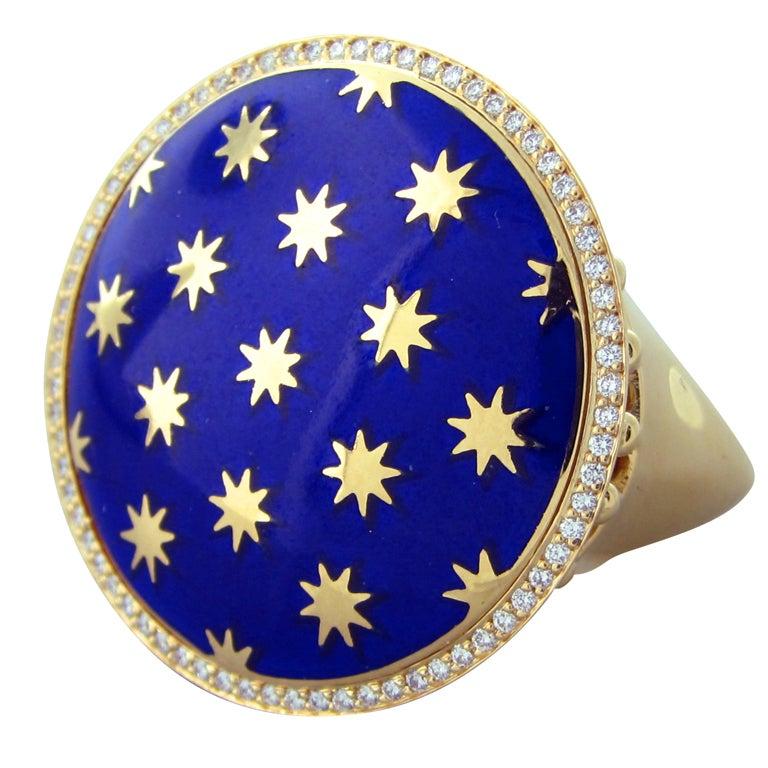 TIFFANY and CO PALOMA PICASSO Venezia Stella Gold Diamond ...