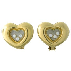 CHOPARD Happy Diamonds Gold Diamond Heart Earrings