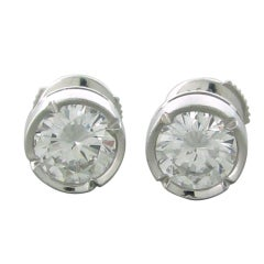FRED Paris 2.00ct D VVS2 Diamond Stud Earrings