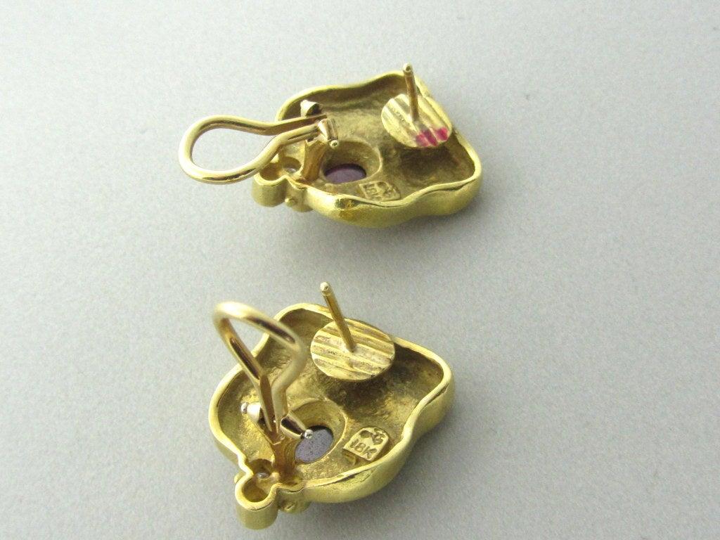 seidengang gold pink tourmaline earrings at 1stdibs