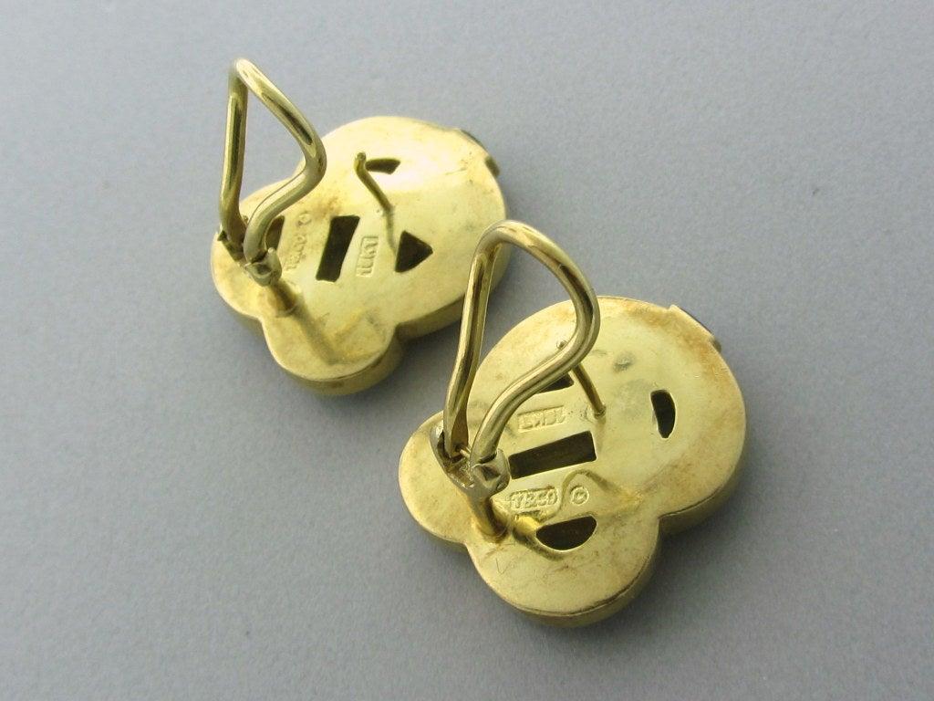TIFFANY & CO Gold  Lapis Lazuli Earrings 3