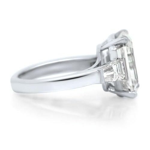 cartier 7 20ct emerald cut platinum engagement