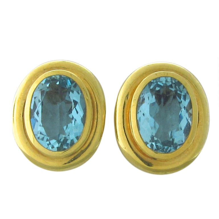 c7a8b97af Tiffany and Co Paloma Picasso Aquamarine Earrings at 1stdibs