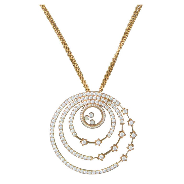 chopard happy spirit gold pendant necklace at 1stdibs