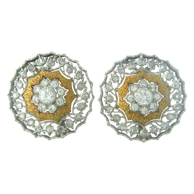 Buccellati Gold Diamond Earrings