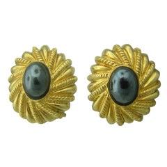 Tiffany & Co Jean Schlumberger Gold Hematite Earrings