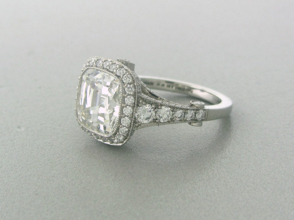 Tiffany and Co Legacy Platinum 4.33ctw Diamond Engagement ...
