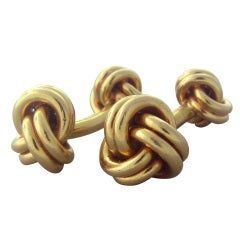 Classic Tiffany & Co Gold Knot Cufflinks