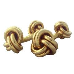 Classic Tiffany & Co Gold Knot Cufflinks