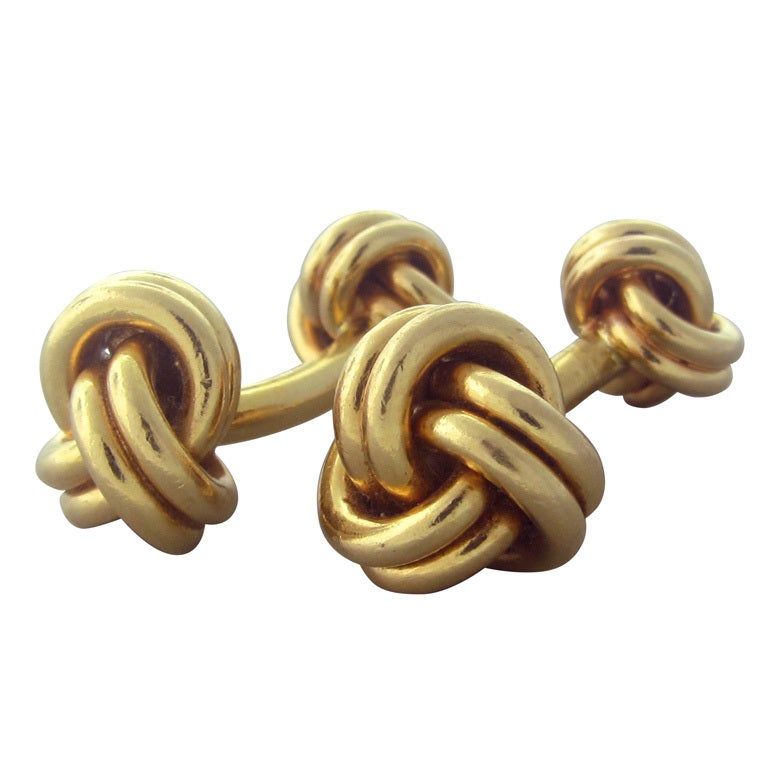 Classic Tiffany And Co Gold Knot Cufflinks At 1stdibs