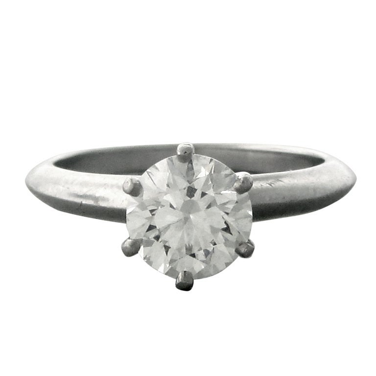 a0ad7f171 Tiffany and Co Platinum 1.25ct H/VS1 Diamond Engagement Ring at 1stdibs