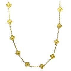 Van Cleef & Arpels Gold Alhambra Necklace 20 Motif