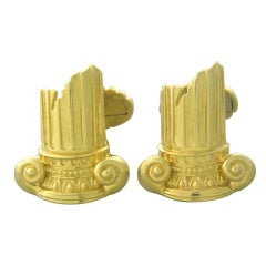 Henry Dunay Gold Ancient Ruins Column Cufflinks