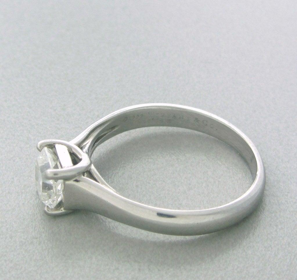 Lucida Bands: Tiffany And Co. Lucida Platinum 0.91ct Diamond Engagement