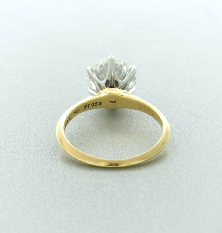 Tiffany and Co Gold Platinum 233ct Diamond Engagement Ring at 1stdibs
