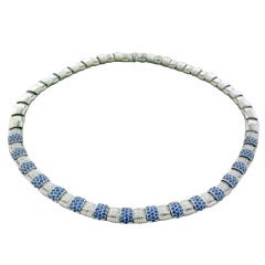 Roberto Coin Gold Diamond Sapphire Necklace