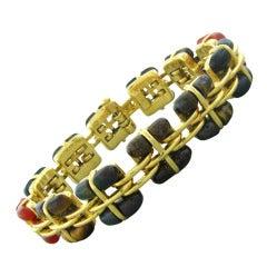 Tiffany & Co Gold Multi Gemstone Bracelet