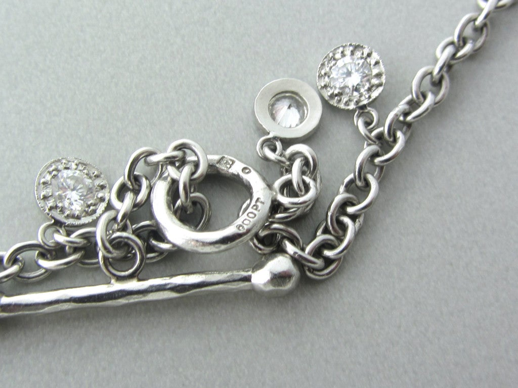 cathy waterman platinum necklace at 1stdibs