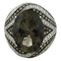 Asprey Gold Diamond Topaz Ring