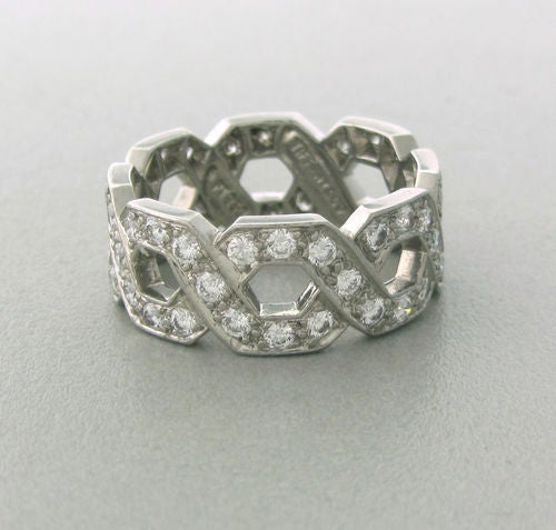 Tiffany & Co  Diamond Platinum Ring In Excellent Condition For Sale In Lahaska, PA