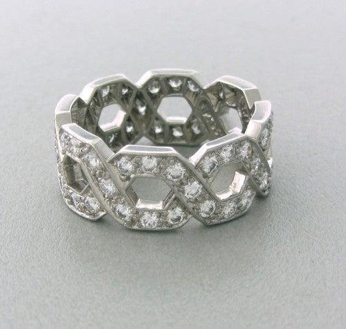 Women's Tiffany & Co  Diamond Platinum Ring For Sale