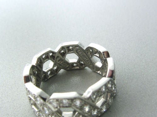 Tiffany & Co  Diamond Platinum Ring For Sale 1