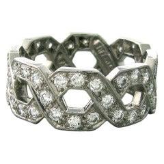 Tiffany & Co  Diamond Platinum Ring