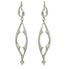 Cathy Waterman Diamond Platinum Earrings