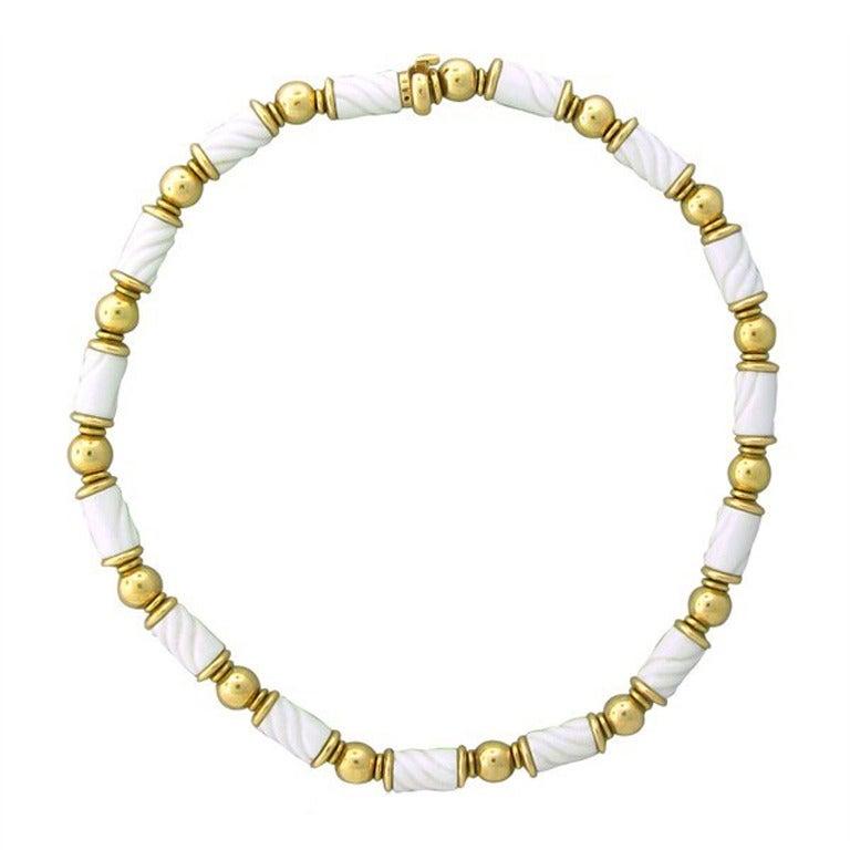 bvlgari bulgari gold ceramic necklace at 1stdibs