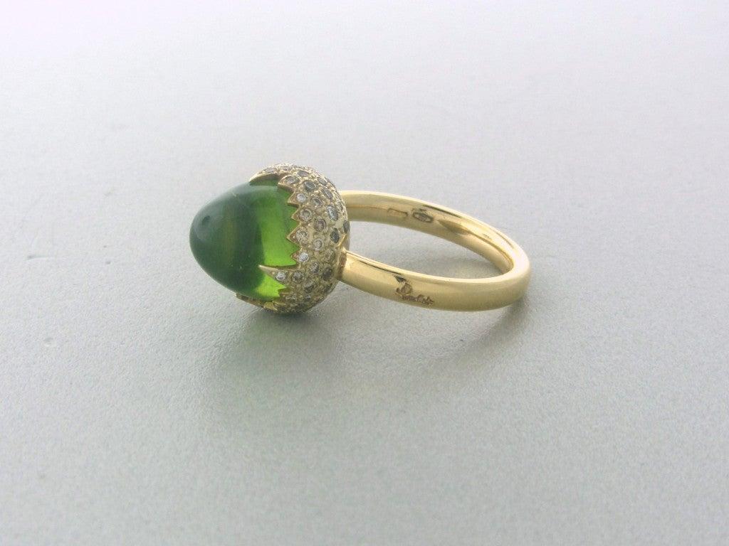 pomellato gold peridot ring at 1stdibs