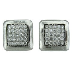 GURHAN Diamond Platinum Earrings